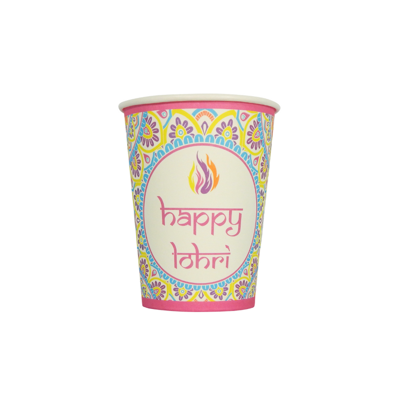 Lohri Party Cups - 10 pack- Peacock Supplies