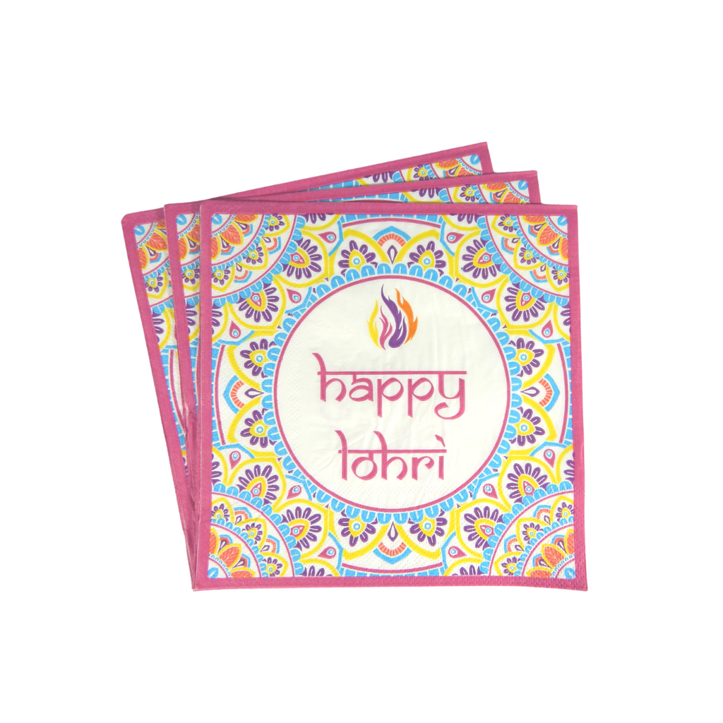 Lohri Party Napkins - 20 pack- Peacock Supplies