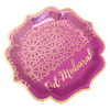 Eid Mubarak Party Plates (10pk) - Purple & Gold