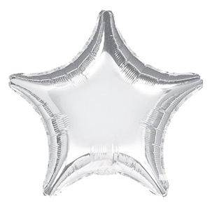 Star Foil Balloon - Silver - Peacock Supplies