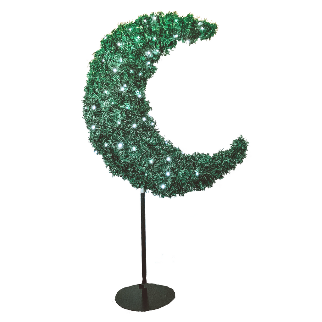 Eid Moon Tree & LED Lights - 5ft Green - Ramadan - Peacock Supplies