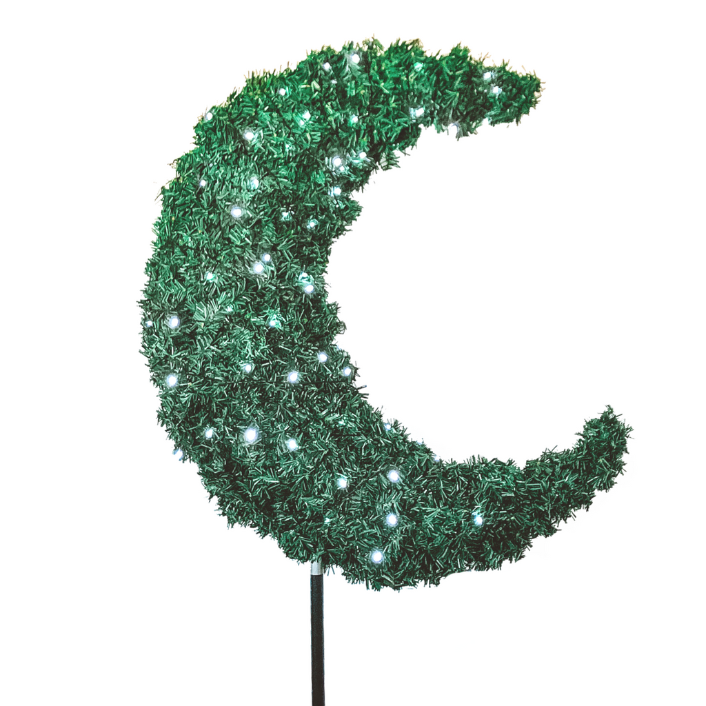 Eid Moon Tree & LED Lights - 3ft Green - Ramadan - Peacock Supplies