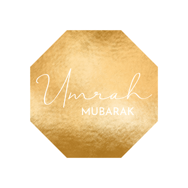 Umrah Mubarak Foil Stickers - 12 pack - Peacock Supplies