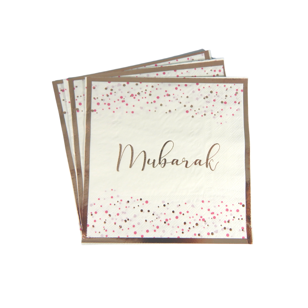 Mubarak Confetti Party Napkins - 20 pack - Peacock Supplies