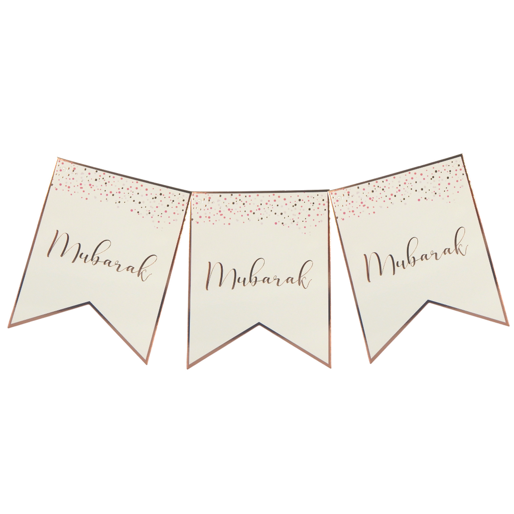 Mubarak Confetti Party Banner - Peacock Supplies