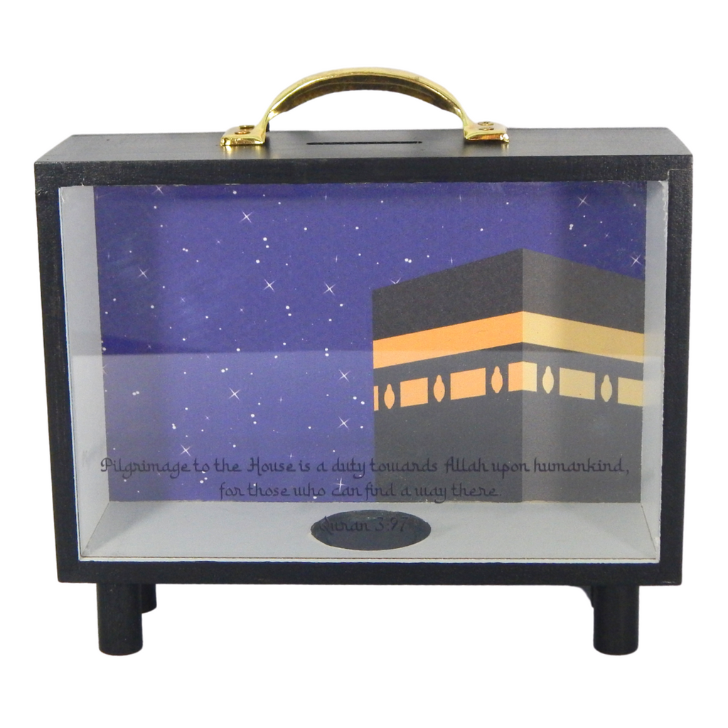 Kaaba Transparent Money Box - Peacock Supplies
