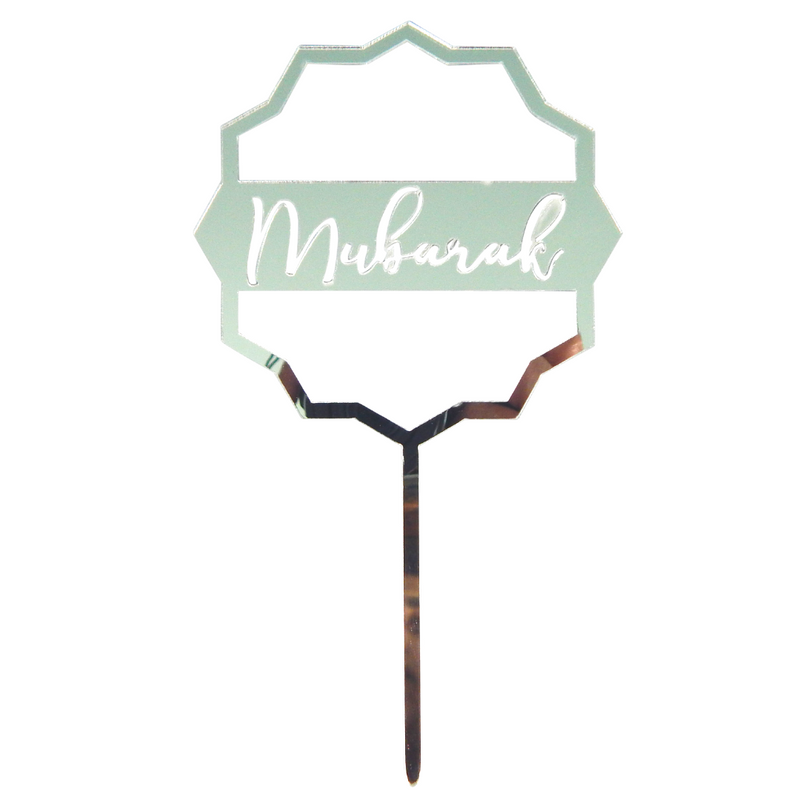 Mubarak Silver Cake Toppers - 5 pack - Peacock Supplies