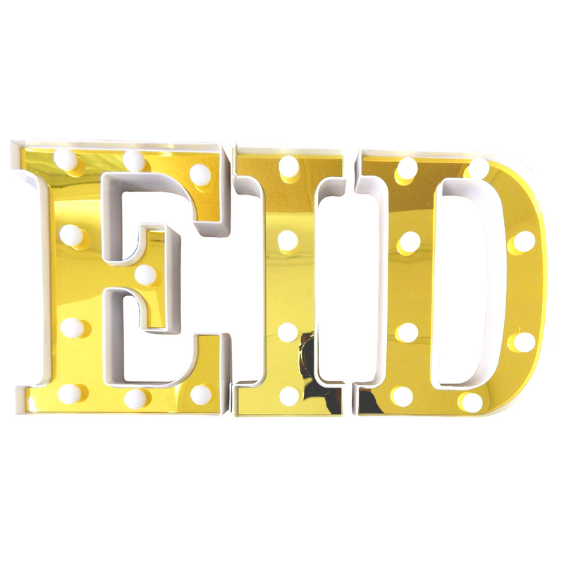 Eid LED Letter Lights - Gold - Peacock Supplies