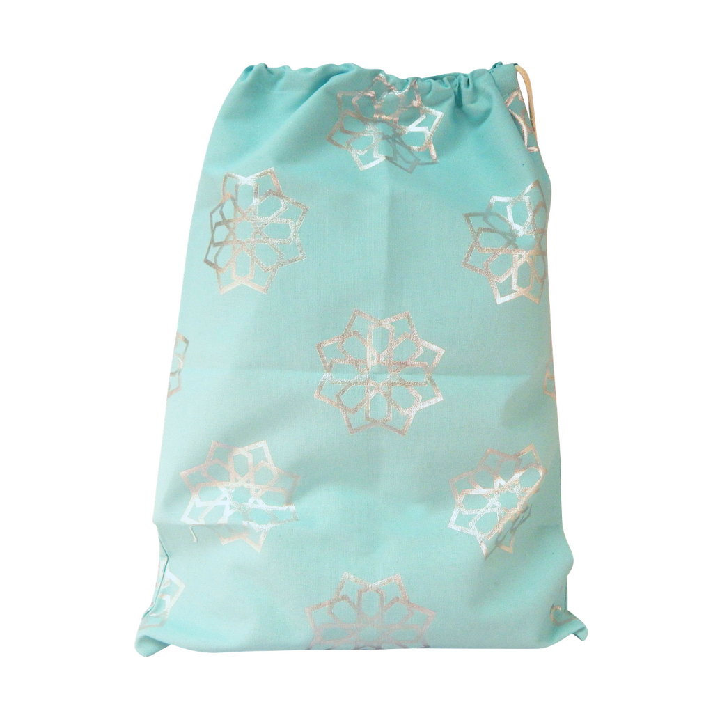 Luxury Eid Sacks - Teal & Silver Foil - Peacock Supplies