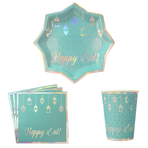 Eid Party Pack - Teal & Iridescent - Peacock Supplies