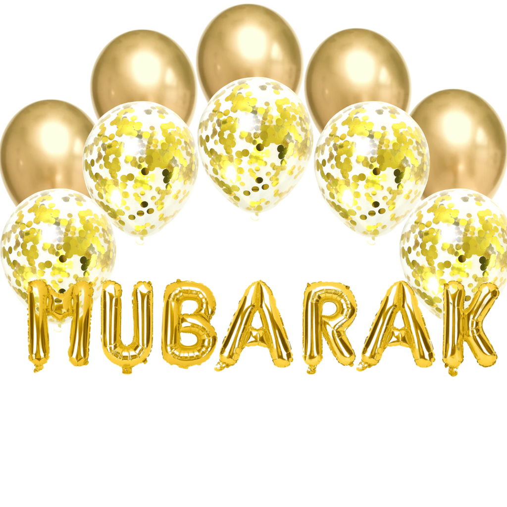 Balloon Bundle - Mubarak - Gold - Peacock Supplies