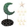Tree Bundle - 5ft Green Eid Moon Tree - White - Peacock Supplies