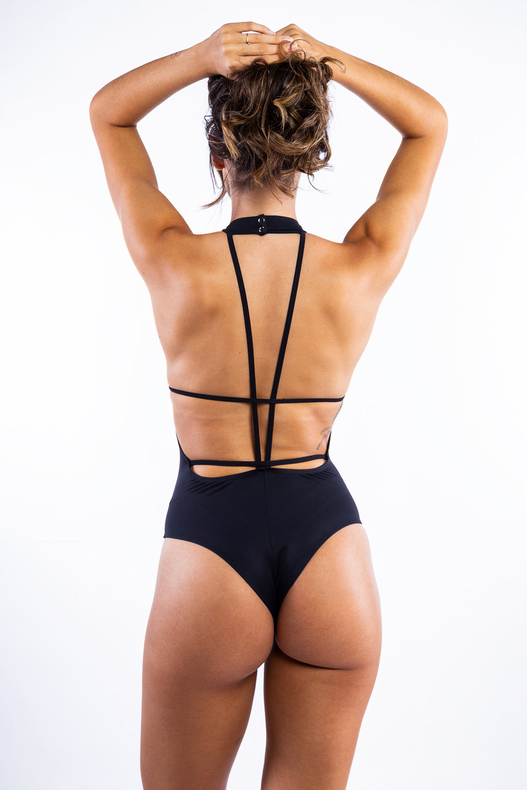 Black Polyamide Body with strip details