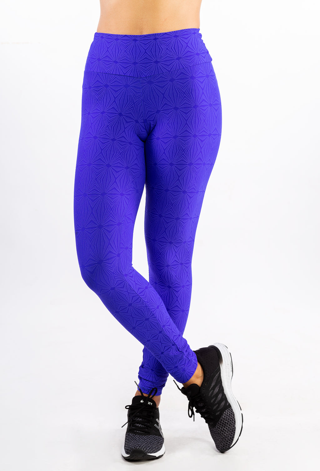 Blue High-Relief Polyamide Legging