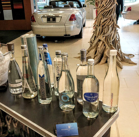 CANADA Water with Salacious Drinks at Rolls Royce in Washington DC