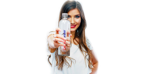 CANADAwater model with premium natural spring water from Canada.  Bottled Water of CANADA water