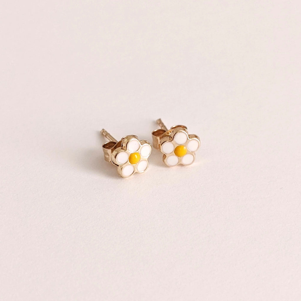 Solid Gold Daisy Studs