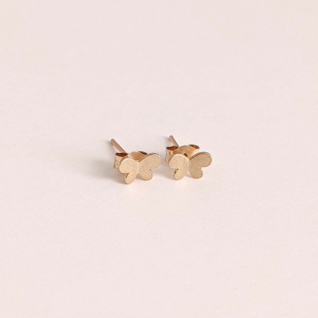 Solid Gold Butterfly Studs