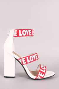 Bamboo Love Triple Bands Chunky Heel