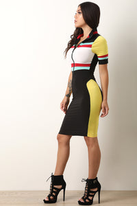 Speedway Half-Zip Bodycon Dress