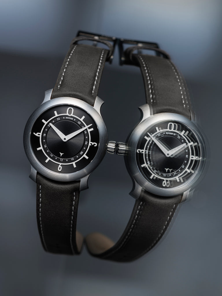 MING 17.03 GMT - Black dial, with Bracelet and Straps
