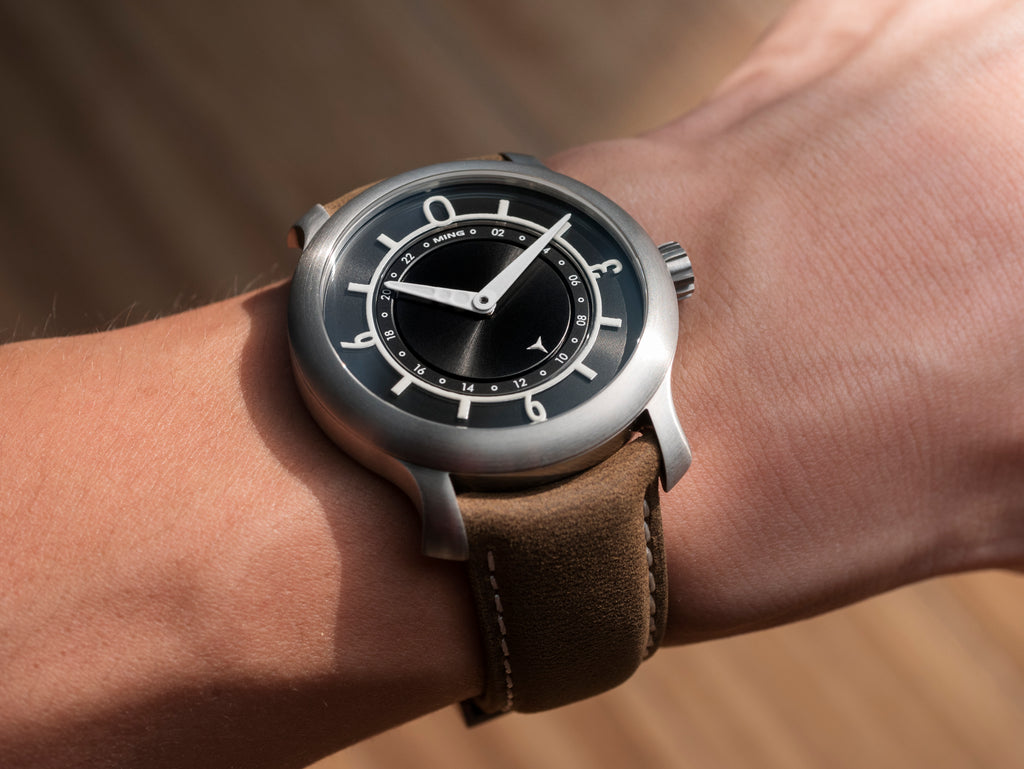 MING 17.03 GMT - Black dial, with Straps