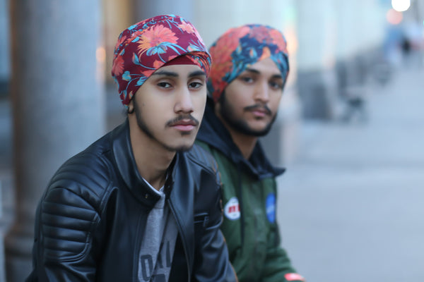 Quality bold printed turbans Trendy Singh New Style
