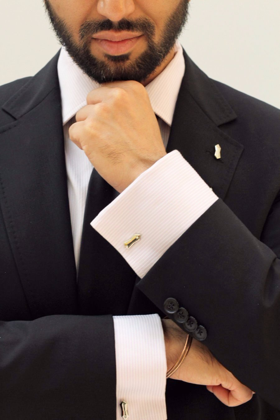 Most popular Khanda Sikh lapel pin and cufflinks jewelry