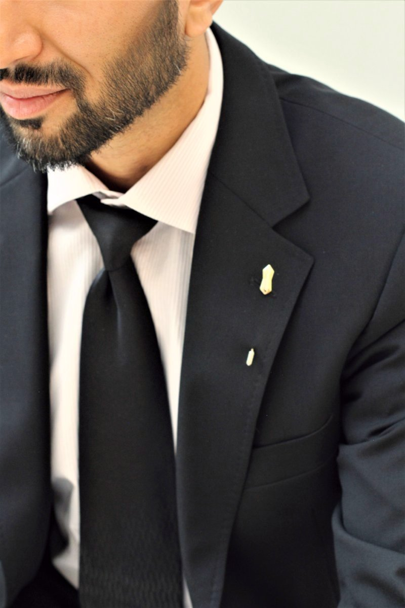 shirt stud foamed gold lapel for pin brooch golden men deer