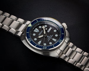 "NEW !!! Turtle ""Seiko Style""  Lumed Sapphire Bezel Insert- Blue"