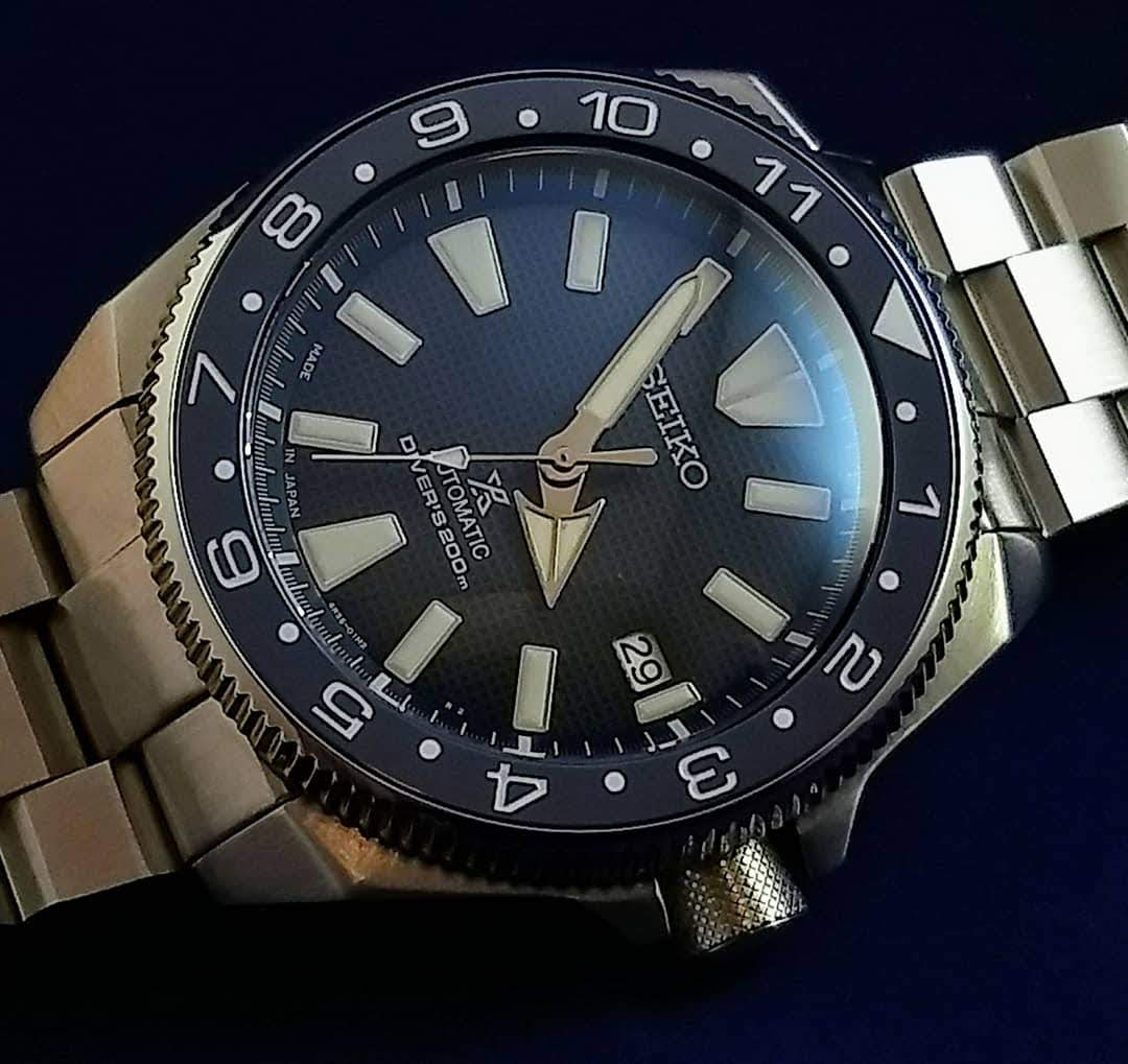 Seiko Samurai GMT Coin Edge Bezel Kit- Blue