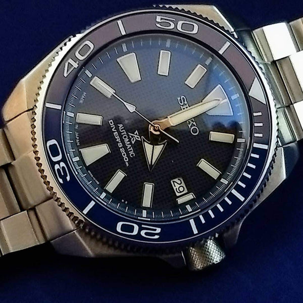 Seiko Samurai Planet Ocean Coin Edge Bezel Kit- Blue
