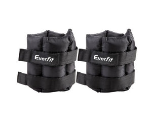 Set of 2 Wrist Ankle Weights 5kg with Adjustable Straps