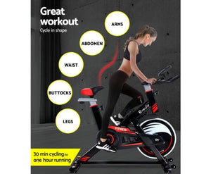 Everfit Spin Exercise Bike Home Workout Gym Equipment