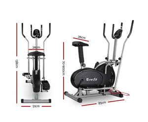 Everfit 5in1 Elliptical Cross Trainer Home Workout Exercise Bike