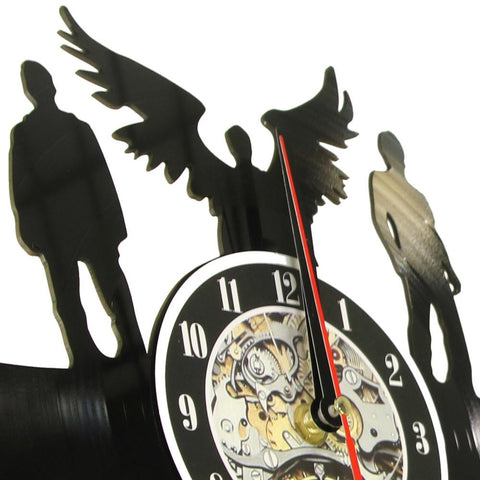 Side view of Supernatural clock on the wall.
