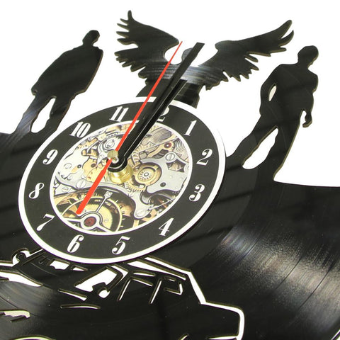 Close up of Supernatural clock on the wall.