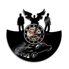 Front view of Supernatural clock on the wall.
