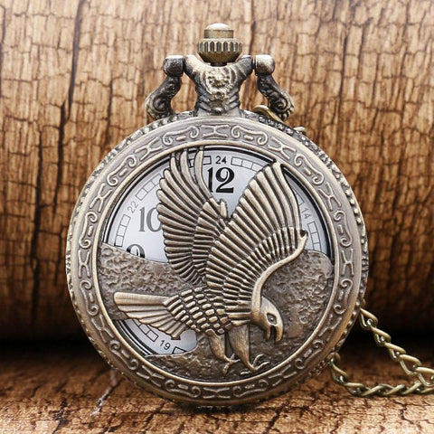 Picture of eagle pocket watch from the front.