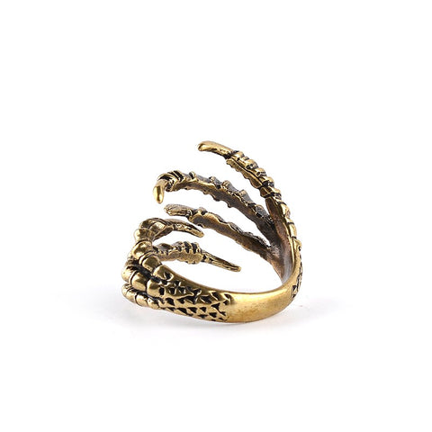Picture of eagle claw ring from the back.
