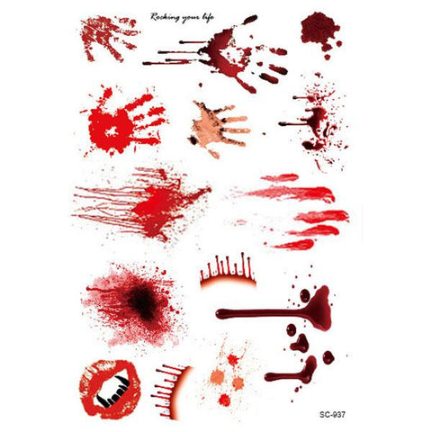Waterproof Bloody Scars Tattoos - 2 Piece Set