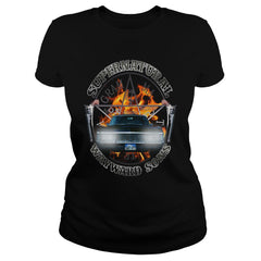 Picture of black Supernatural Wayward Sons ladies t-shirt.