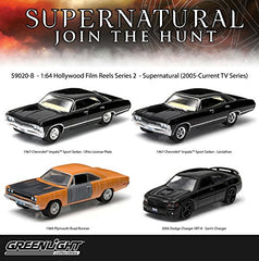 "Set of 4: Greenlight Hollywood Film Reels ""Supernatural"" 1:64 Scale"