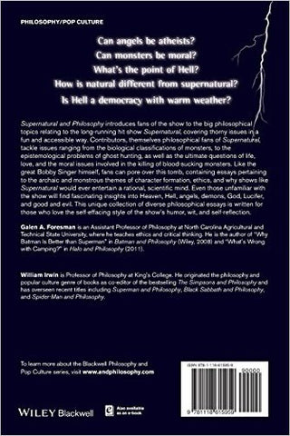 "back cover of ""Supernatural And Philosophy"""
