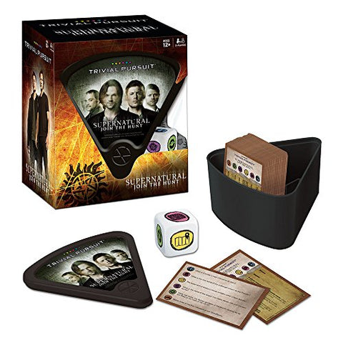 "Picture of ""Supernatural Trivial Pursuit"" game contents."