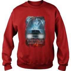 Picture of red Supernatural May The Light Expel The Darkness sweatshirt for guys.