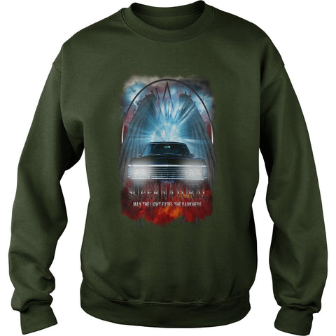 Picture of forest Supernatural May The Light Expel The Darkness sweatshirt for guys.
