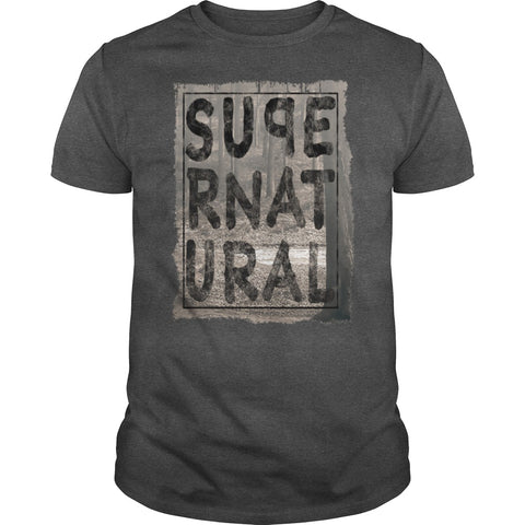 Picture of dark gray Supernatural t-shirt for guys.