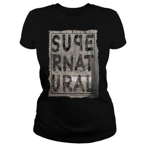 Picture of black Supernatural t-shirt for goddesses.