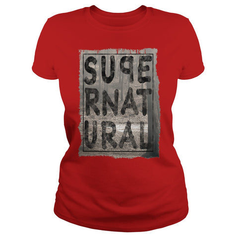 Picture of red Supernatural t-shirt for goddesses.